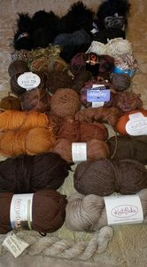 Premium yarns, wool, novelty in browns